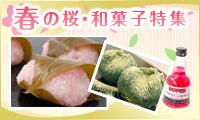 春の桜・和菓子特集